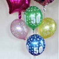 balon foliowy 50 urodziny bukiet baldeco