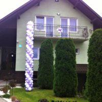 brama z balonów ślub