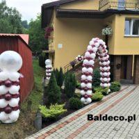 brama z balonów,ślub