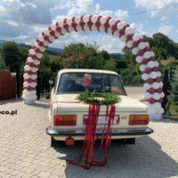 brama z balonów_ślub